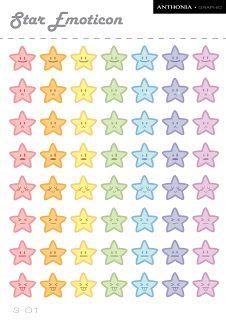 Free Printables: Star Emoticon