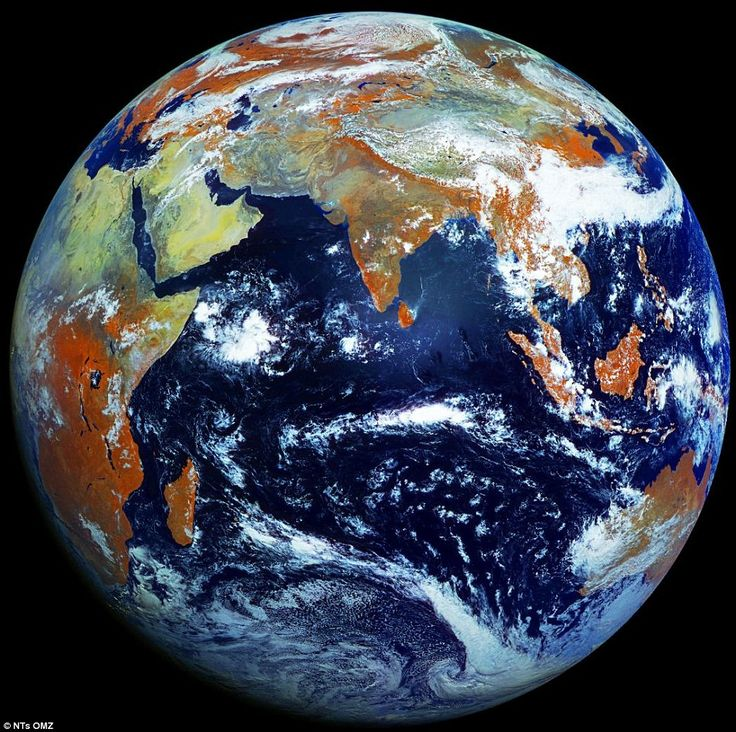 Earth is photographed with a high-definition 121megapixel camera - creating the sharpest image of our planet yet
