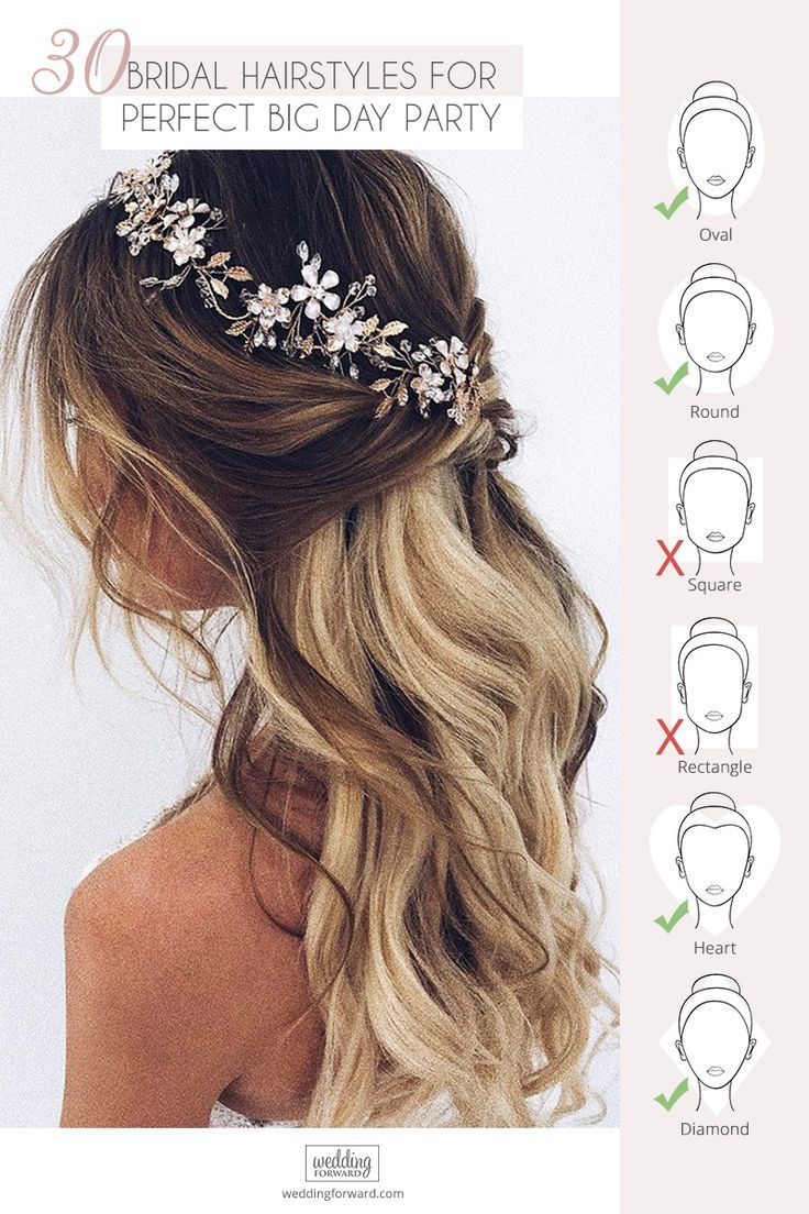 30 Perfect Bridal Hairstyles For Big Day Party ❤️ If You still can not choose bridal hairstyle take a look at our collection of best wedding ideas for brides #weddings #hairstyles #bridalhairstyle #bridalhairstyles