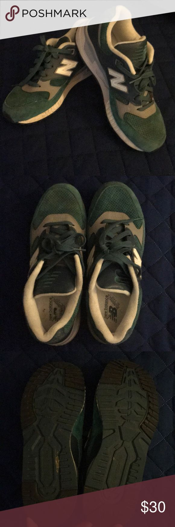 New Balance 530 suede running shoes Great condition ladies New Balance 530 shoes in teal green, navy and gray. Suede. Size 7.5. Worn just a few times. New Balance Shoes Athletic Shoes