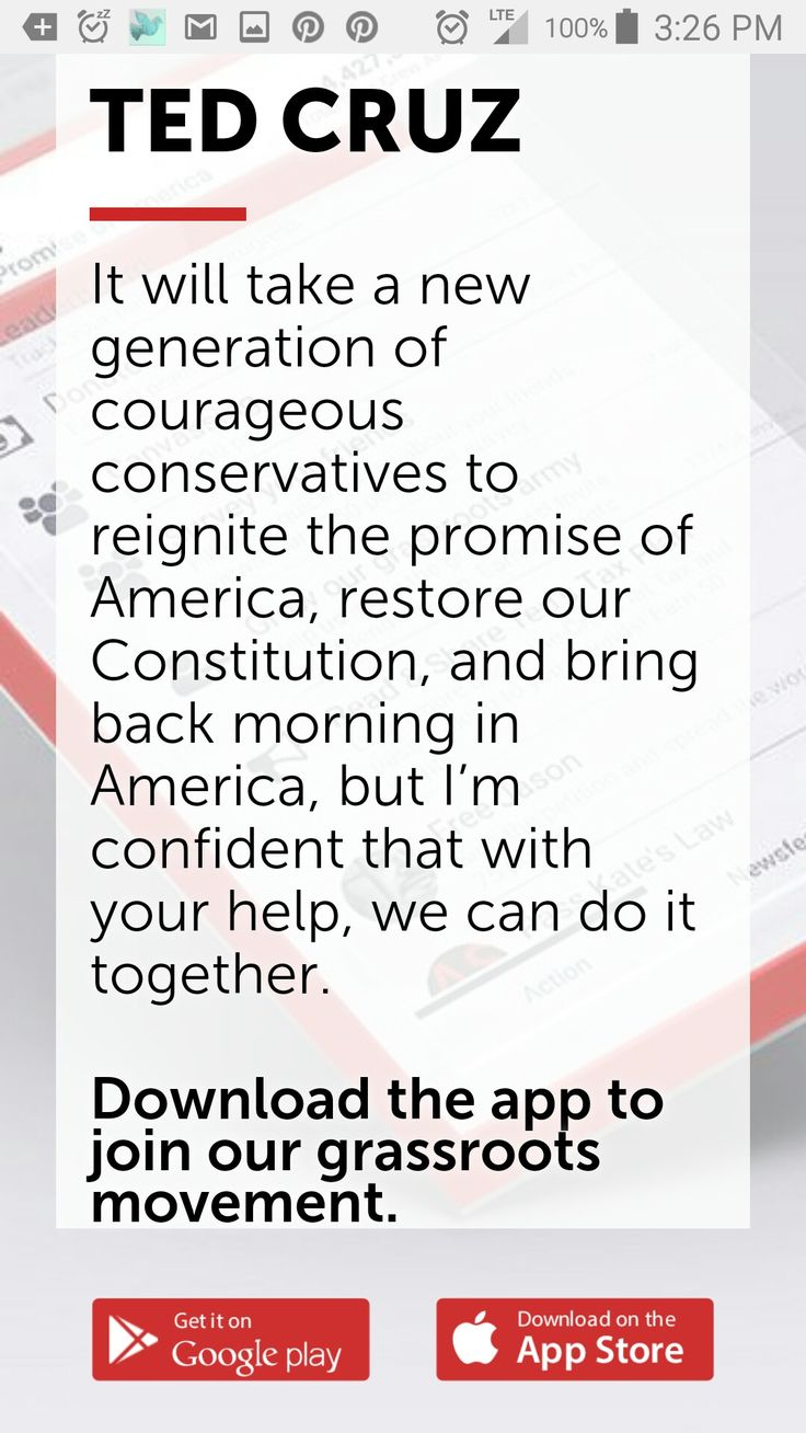 Join Ted Cruz! Our movement continues. Download the official app: https://www.tedcruz.org/l/cruz-app/ And give me credit! Use my code: KWXJVVQ1