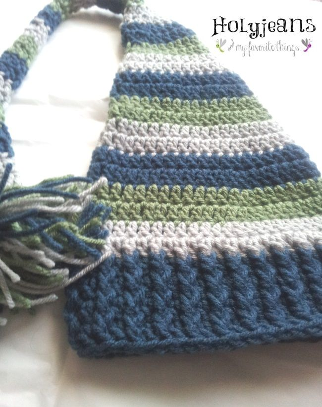 Free Knitting Patterns For Baby Elf Hats : 544 best images about Crochet Hat Patterns on Pinterest Crochet sun hats, F...