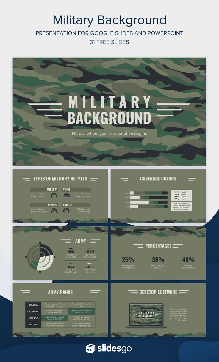 Get Ready For The Battle With This Military Background Presentation Available As Google Slides Theme And Powerp Military Powerpoint Army Powerpoint Powerpoint
