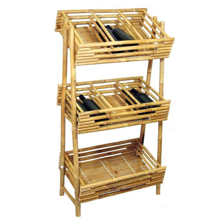 Bamboo54 Bamboo Wine Tray Rack
