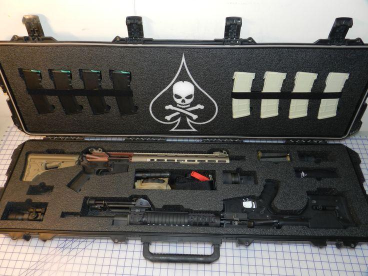 Storm Pelican case Custom Foam #dmr rifle #combat rifle PMags