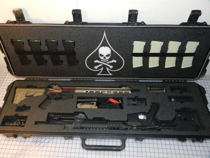 Storm Pelican case Custom Foam #dmr rifle #combat rifle PMags