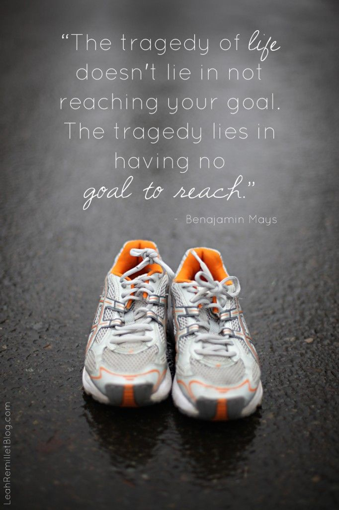 """The tragedy of life doesn't lie in not reaching your goal.  The tragedy lies in having no goal to reach."""