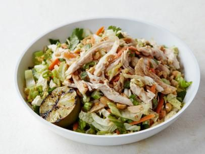 Chinese Chicken Salad with Red Chile Peanut Dressing Recipe | Bobby Flay | Food Network