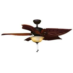 Hampton Bay Costa Mesa 56 In Mediterranean Bronze Ceiling Fan Ps Ceiling Fans And Leaves