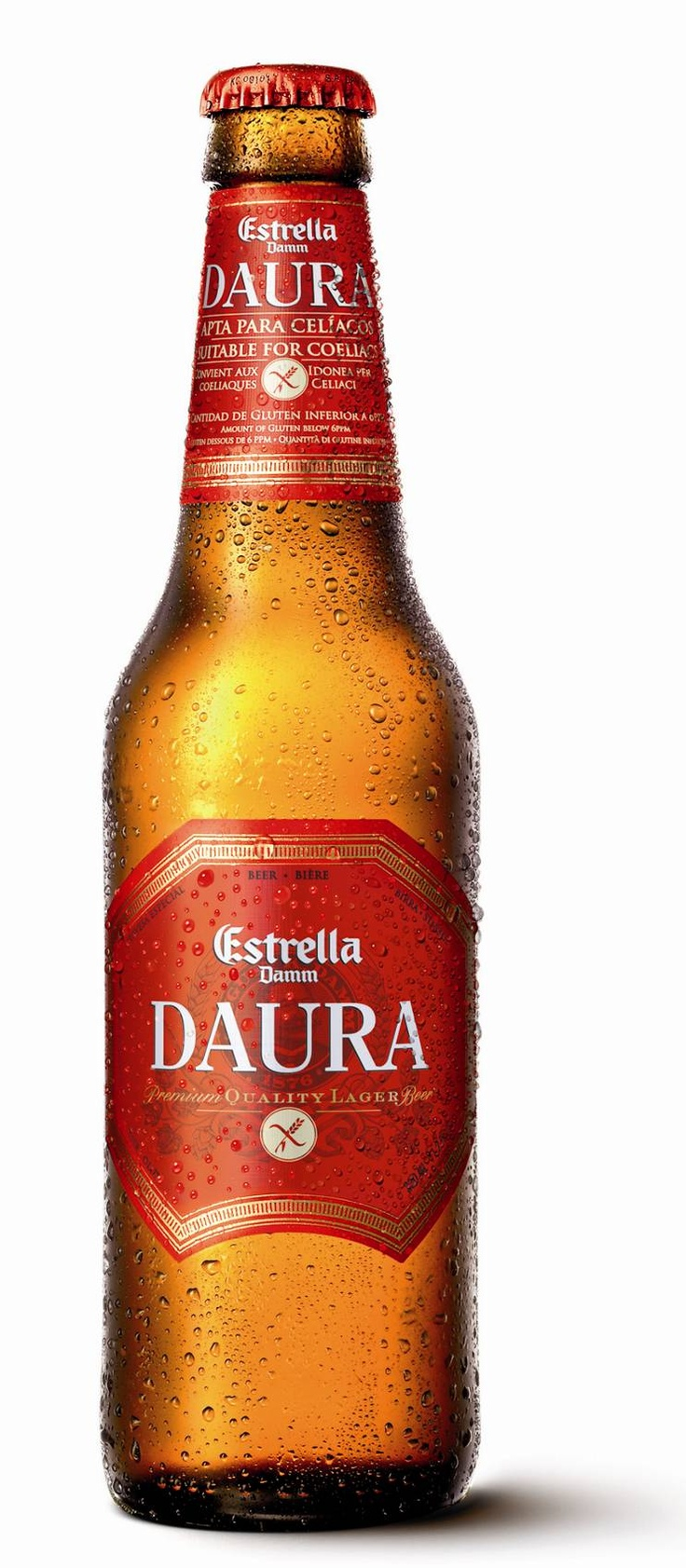 Cerveza Estrella Damm Daura.  This gluten-free beer made in Spain is suppose to be at the top of the gluten-free beer pyramid. Always did have a thing for Spanish beer!
