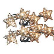 Kurt Adler 10-Light Star Christmas Light Set - Indoor and Outdoor