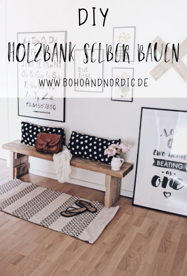 Build a wooden bench yourself – it's easier than you think!