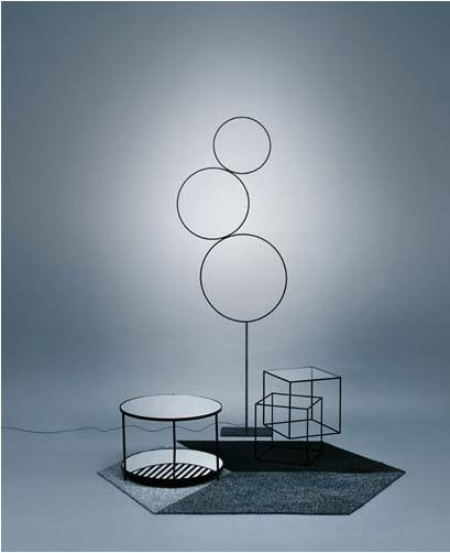That cubey one in the back? Thin Black Table - Cappellini, #Nendo