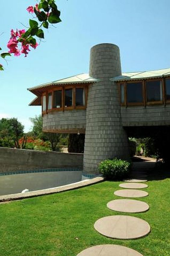 A Phoenix home designed by Frank Lloyd Wright shown in 2012. AP Photo by  Ross