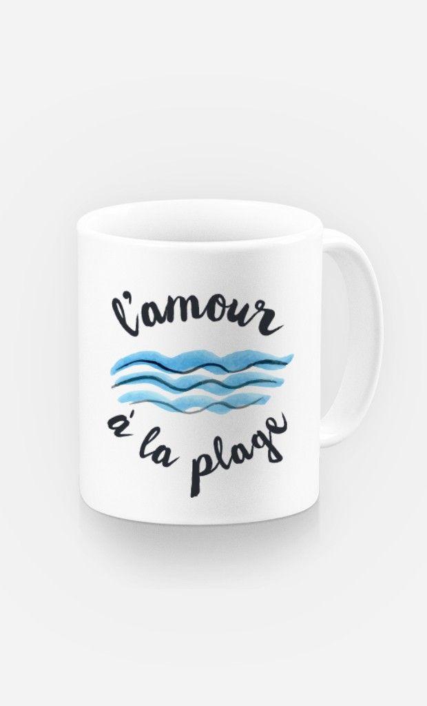 Mug L'Amour à la Plage de la collection Summer Time - Wooop.fr