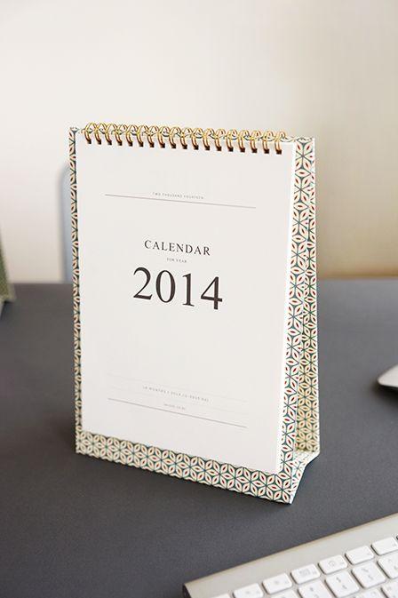 2014 Pattern Desk Calendar