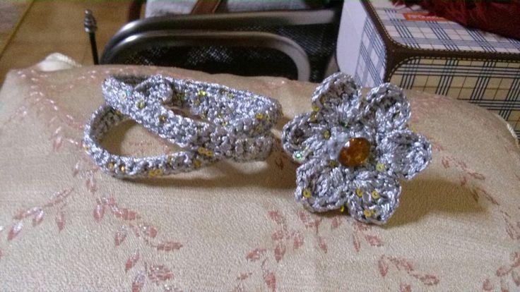 Πλεκτό δακτυλίδι-βραχιόλι