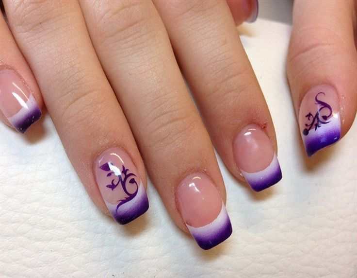 airbrush nail art fade out design - Nail Designs Gallery : Nail ...