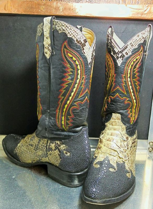 Gila Monster Skin Boots