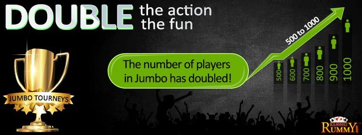 #Jumbo #tournaments became more exciting... the number of participants have become double.  #Play with more people and have more fun!  https://www.classicrummy.com/rummy-games/rummy-jumbo-tournaments?link_name=CR-12