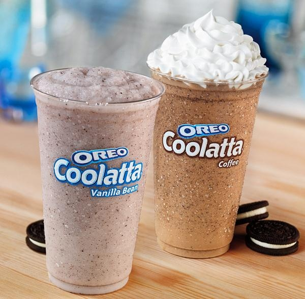 ✯ To Celebrate the Oreo, Dunken Donuts is serving up OREO Coolatta in Coffee and Vanilla Bean flavors – Smooth Dunkin' Donuts Frozen Coffee drink and OREO cookie crumbles, topped with whipped cream