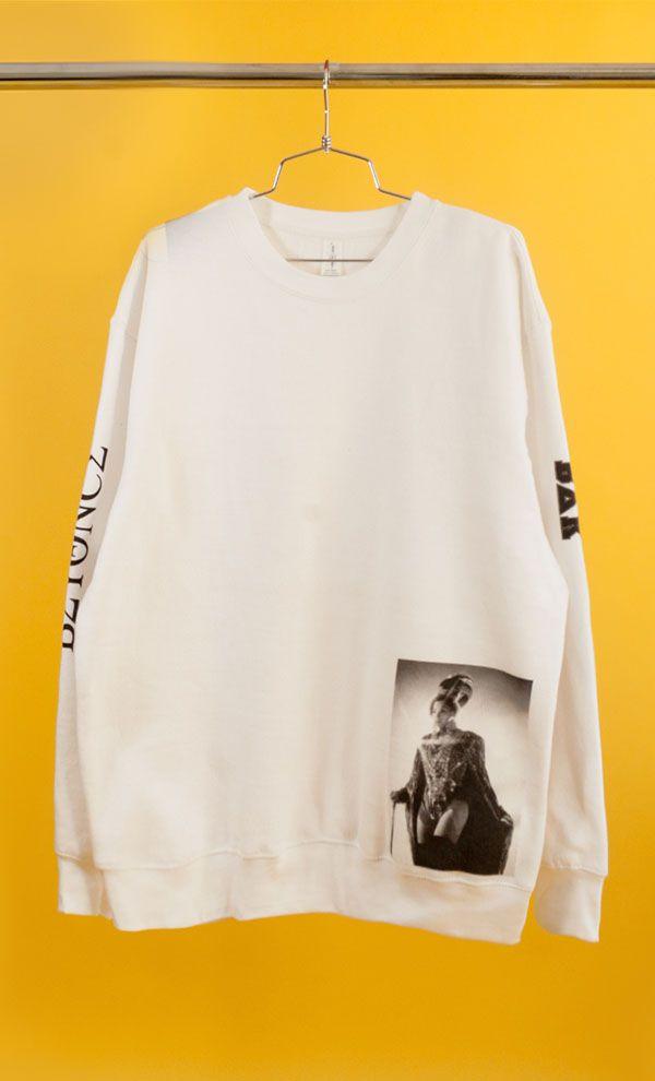 5e8aba4746 Beyoncé Homecoming sweatshirt featuring BEYONCÉ and BDK on sleeves ...