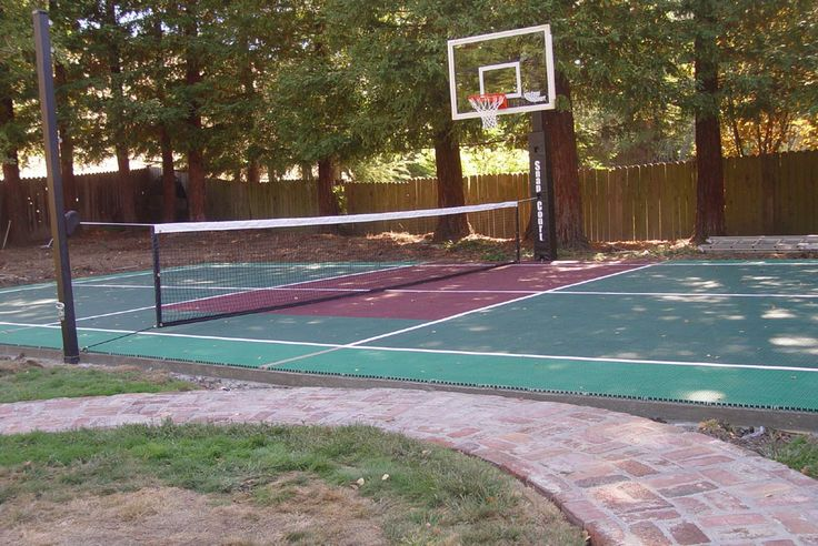 29 best images about backyard basketball on pinterest in for Small basketball court