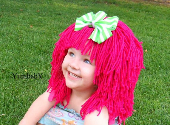 Halloween Costumes for Kids Hot Pink Wig Pageant by YumbabY, $34.95 #halloween #costume #strawberry #shortcake #wigs #Pink #handmade