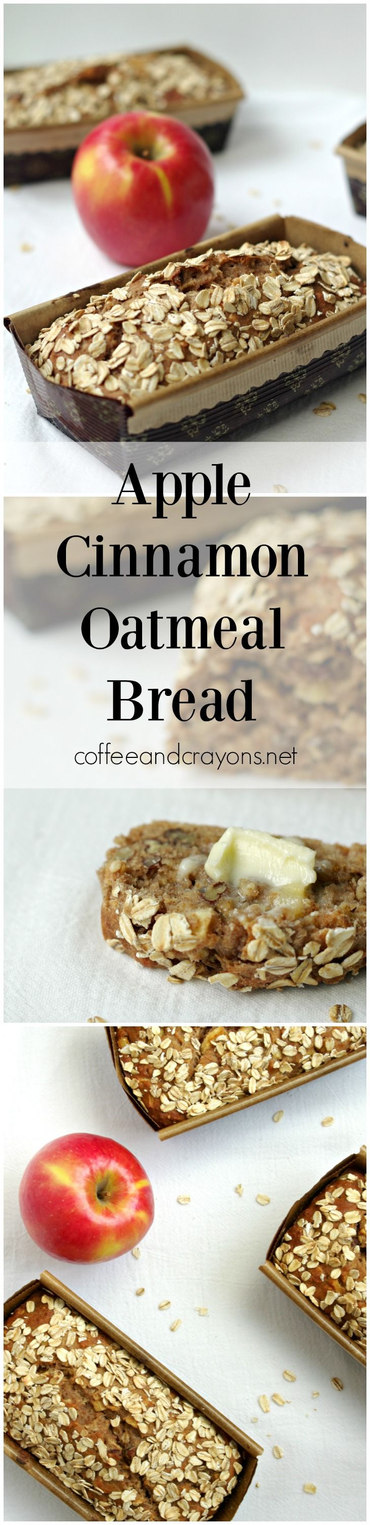 Apple Cinnamon Oatmeal Bread | Butter, Apple cinnamon and Oatmeal ...
