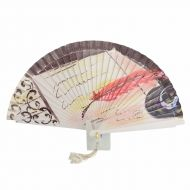 Abanico papel , pluma y sombrero diseño vintage