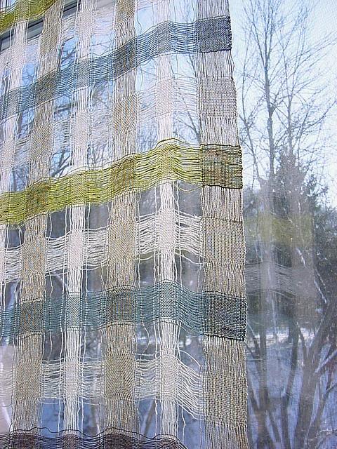 Linen window... Avalanche Looms