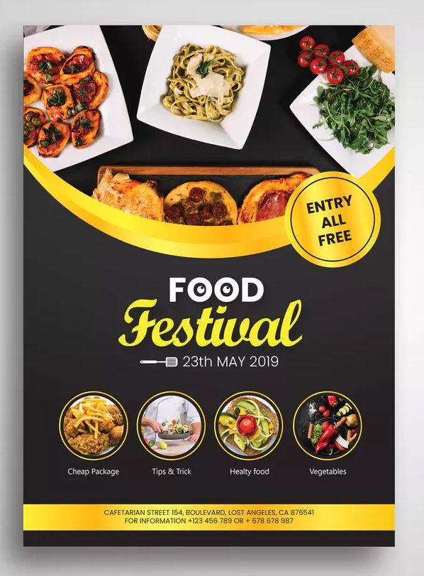 Food Festival Flyer By Uicreativenet On Food Festival Poster