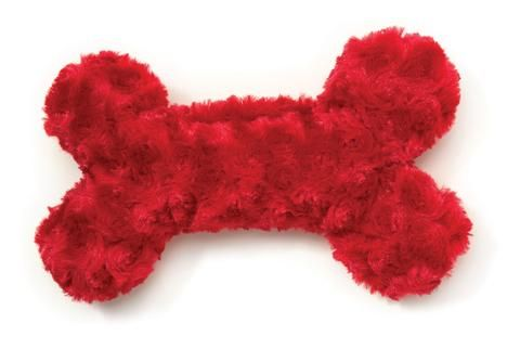 Toys - West Paw Design Merry Bone - Red