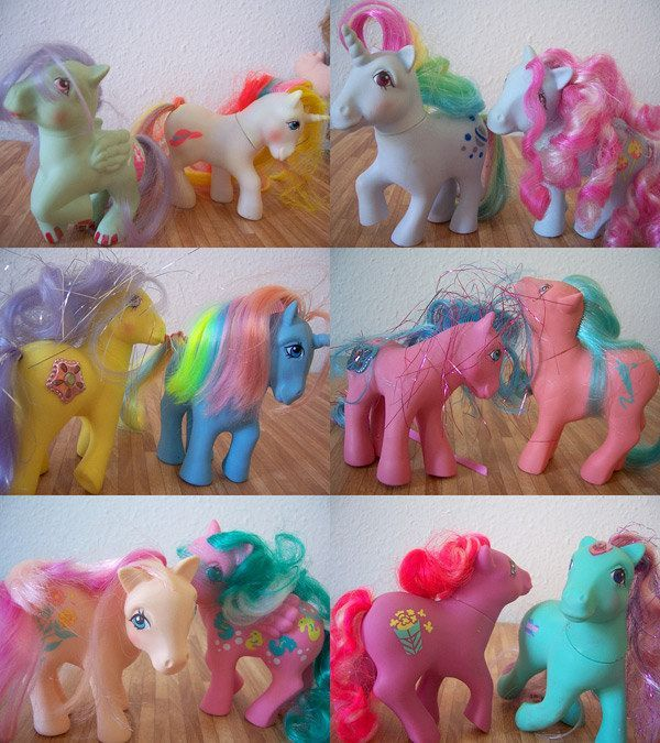 When they looked like ponies (kind of) and not skinny big headed big eyed girls that got turned into ponies but wanted to maintain their skinny figures and big eyed faced!!! Wish you could still get these :(