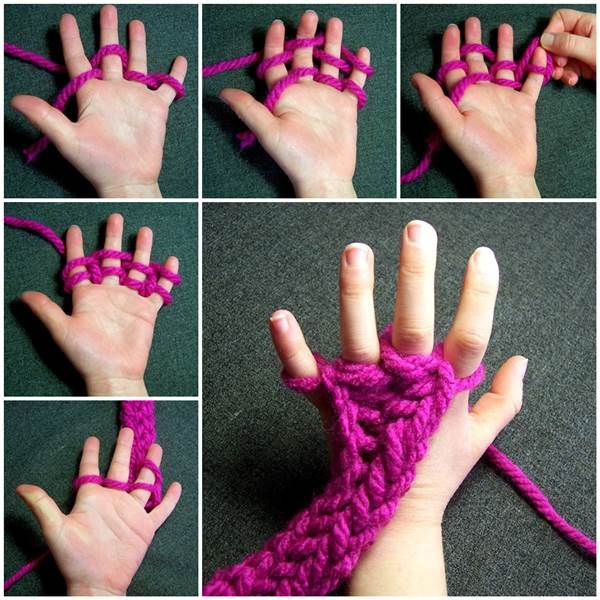 How to Do Finger Knitting #DIY #fingerknitting