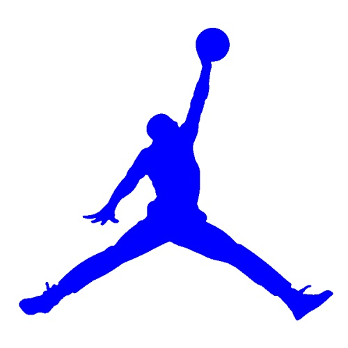 blue air jordan logo png