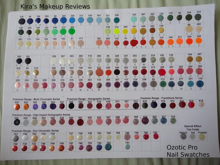 Sally Hansen Nail Color Chart