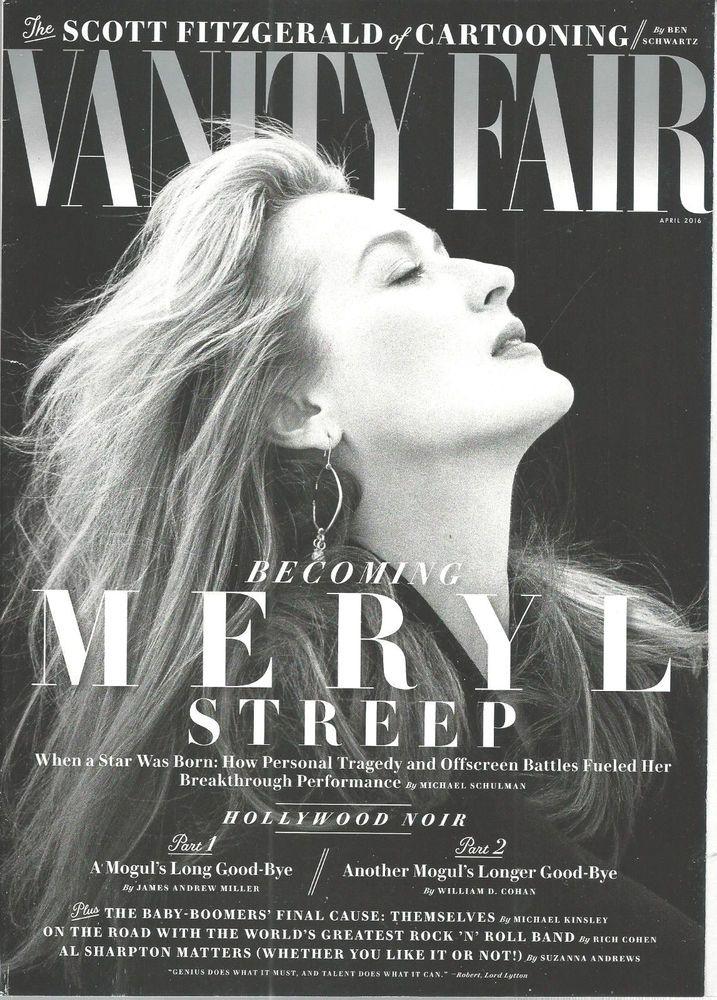 Meryl Streep Vanity Fair Magazine April 2016 Hollywood Noir Baby Boomers #CondeNast