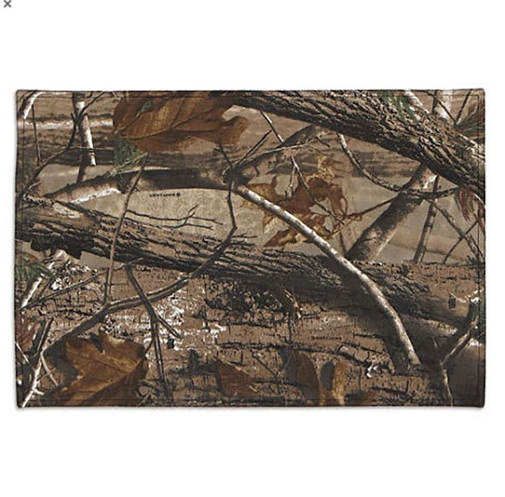 "Unique and Custom {13' x 19' Inch} Single Pack of Rectangle ""Non-Slip Grip Texture"" Large Table Placemat Made of Washable 100% Cotton w/ Hunting Camo Camouflage Leaf Pattern Design [Brown and Tan Color] >>> Discover this special product, click the image : Food Service Equipment Supplies"