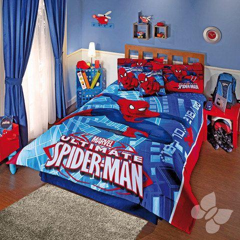 17 best images about bedspread sets comforter sets duvet for Cuartos decorados hombre arana