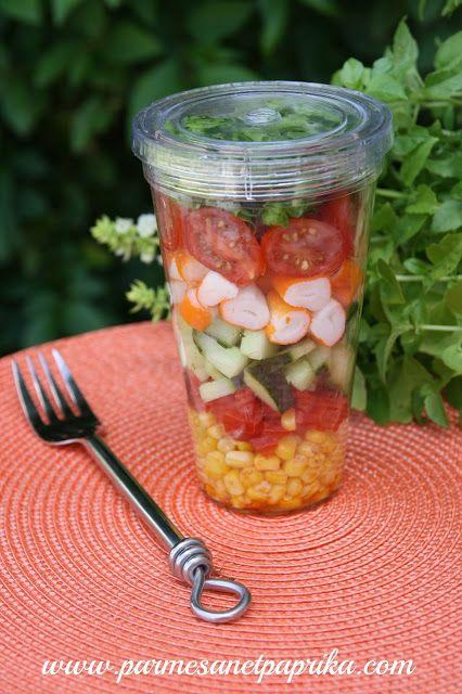 Parmesan et Paprika: Salade de la Mer en Bocal