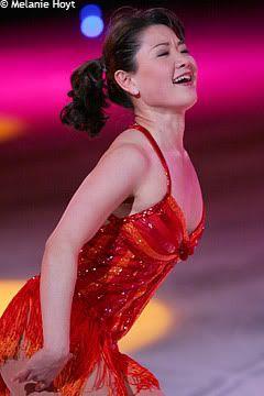 Yuka Sato Red Figure Skating / Ice Skating dress inspiration for Sk8 Gr8 Designs.