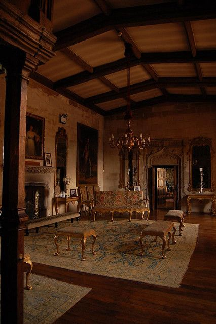 Interior Of Berkeley Castle England Kept In The Same Family For Over