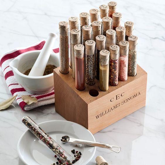 Loving this test tube spice rack