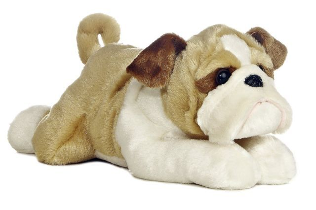 Aurora World 12 Flopsie Willis Bulldog Plush Plush Dog Cute