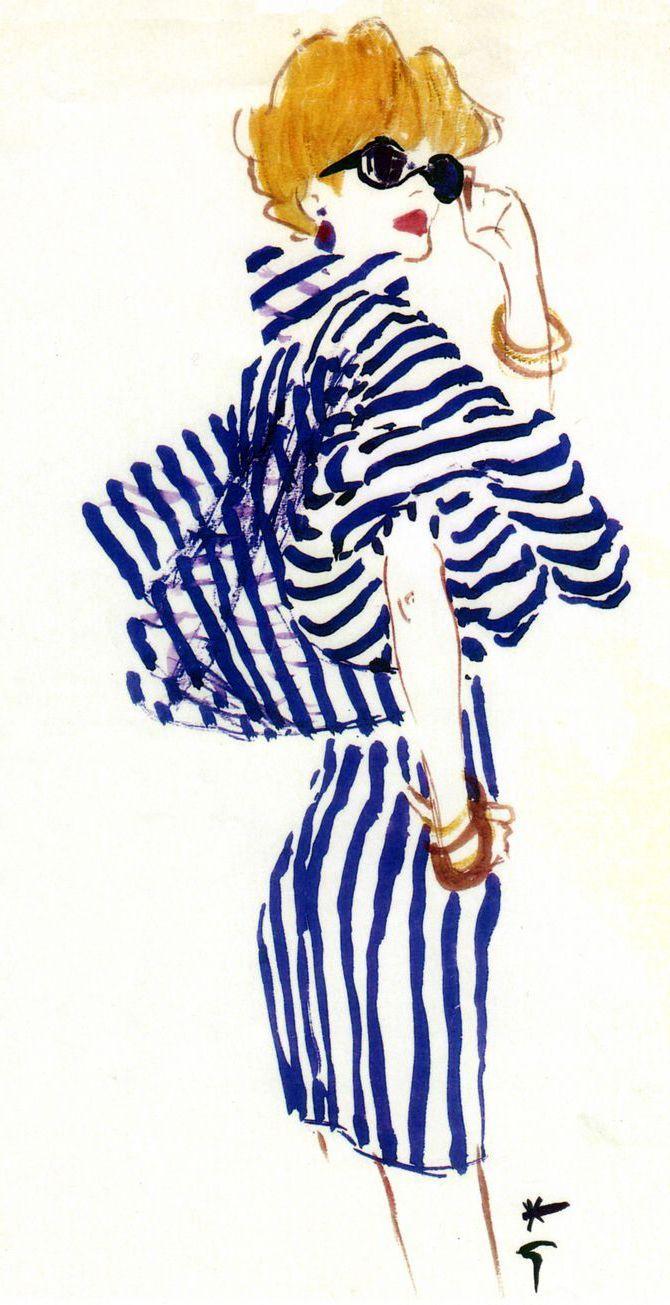 Rene Gruau, ilustración para Vogue y Dior