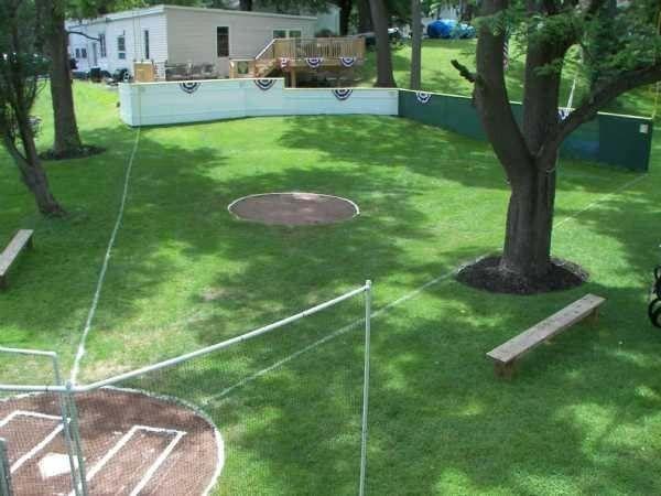 2.) A wiffle ball stadium: Named Riley Field, this mini stadium regularly hosts games in Mumford, NY.