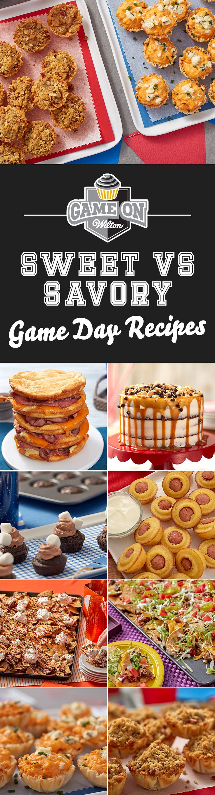 Huddle up, foodies: which team are you on? Team Sweet or Team Savory? We've rounded up all of our delicious sweet and savory game day recipes. Take a look and draft your favorite picks!