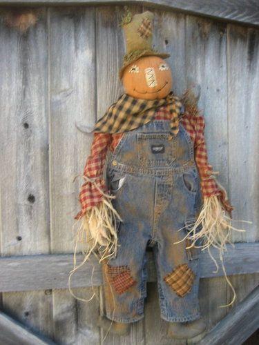 Pumpkin scarecrow that I made.