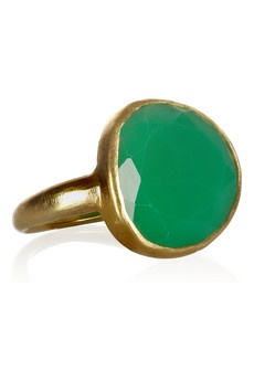 Pippa Small  18-karat gold chrysoprase ring if this as close as I come to an emerald, I want it